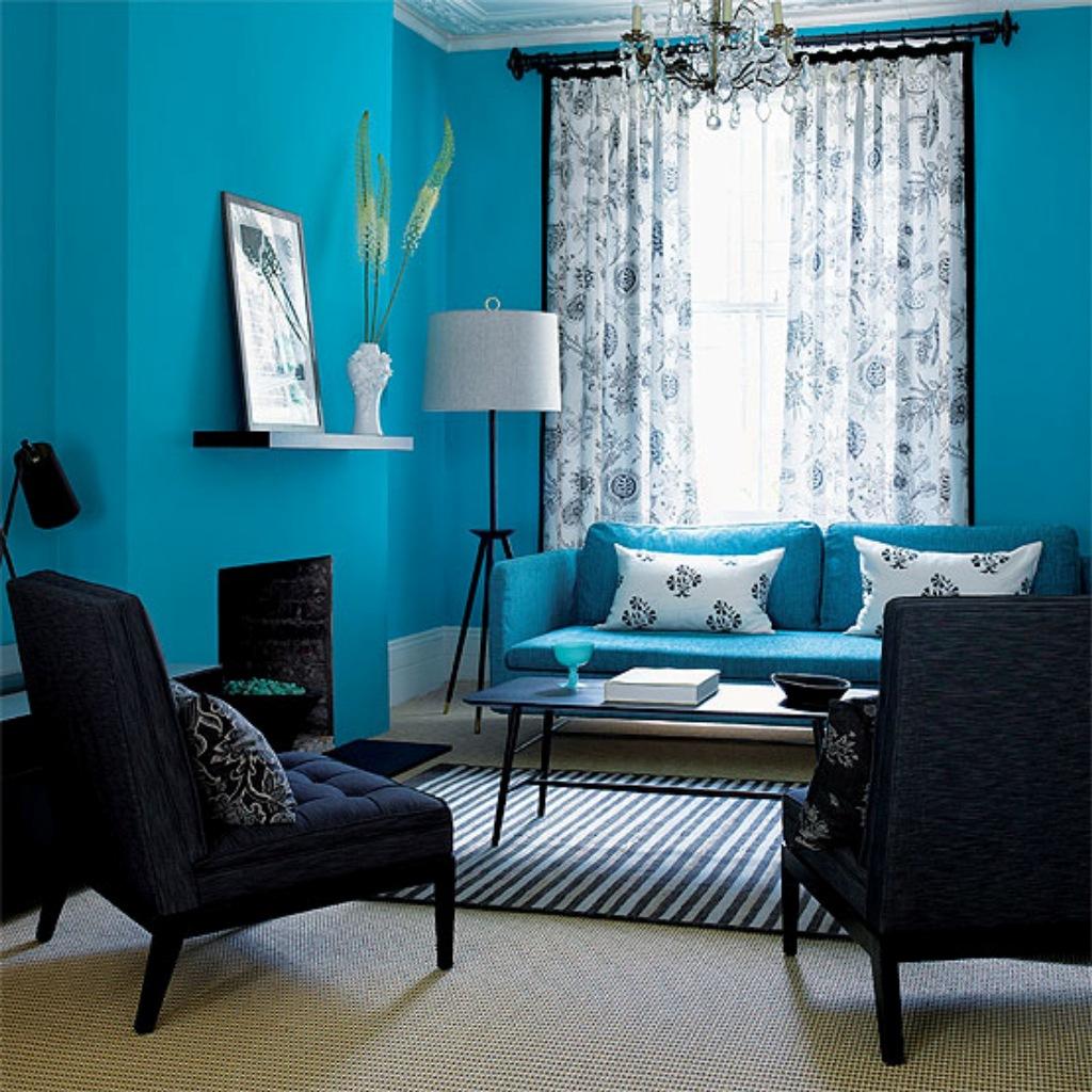 3 mẫu  sơn nhà màu xanh